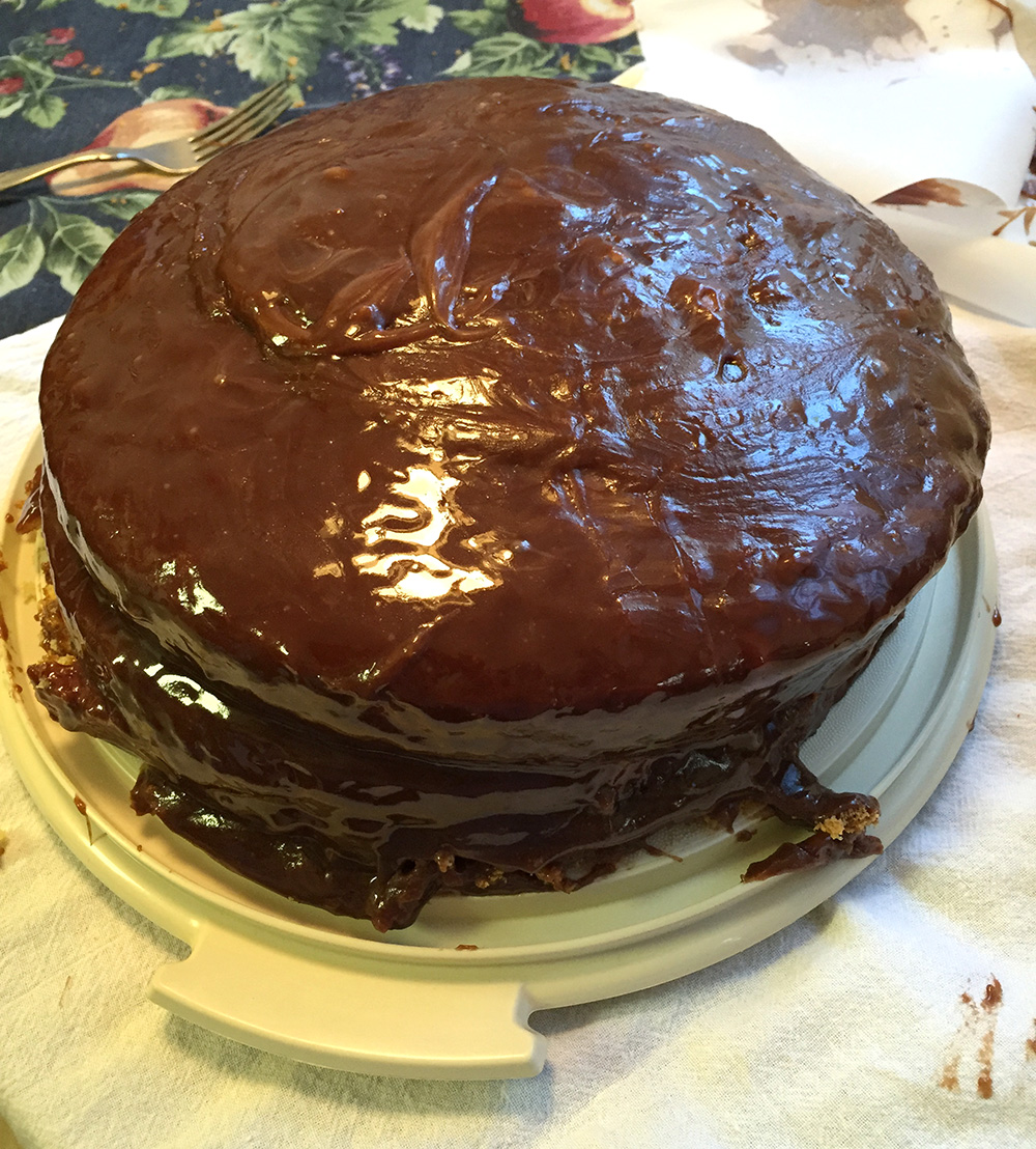 Lopsided Chocolate Cake