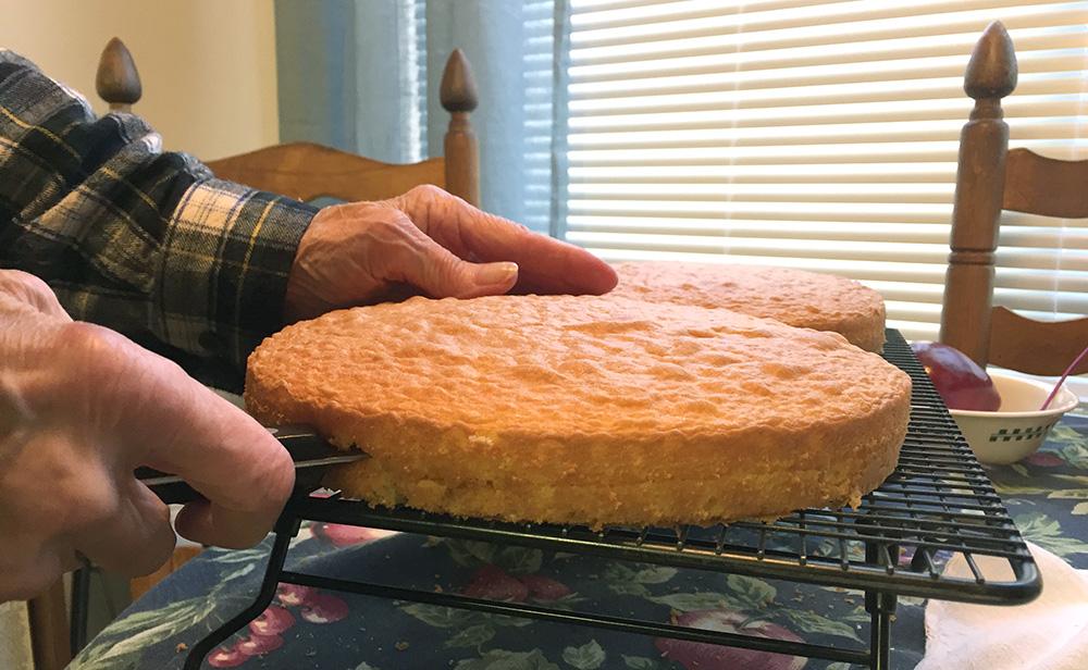 Ma Cutting Cake