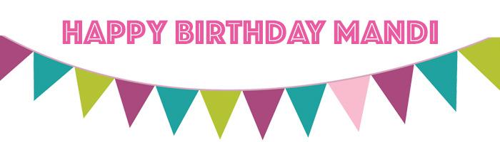 Virtual Birthday Party for Mandi